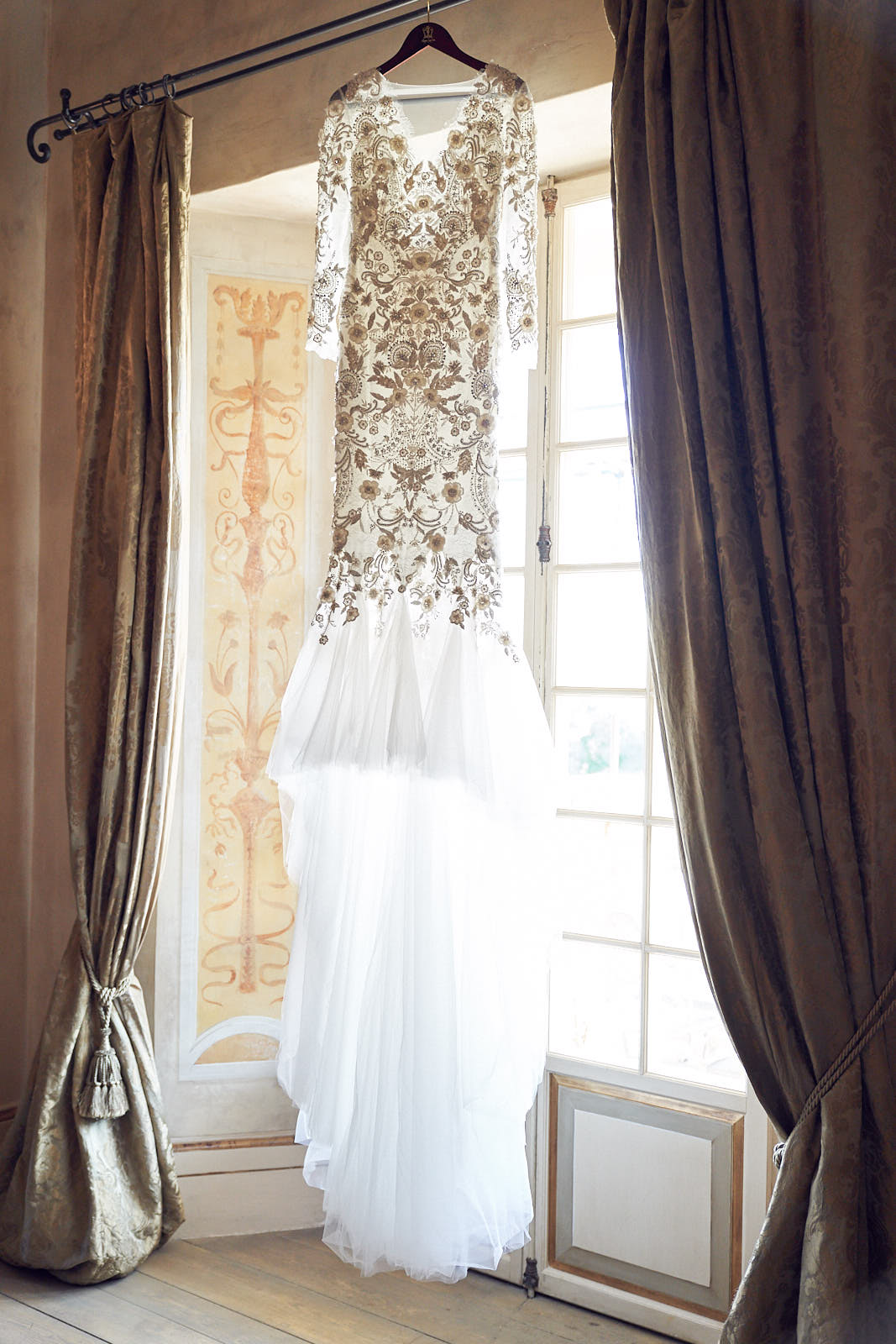 Borgo Santo Pietro Wedding Tuscany Marchesa Wedding Gown by Lost In Love