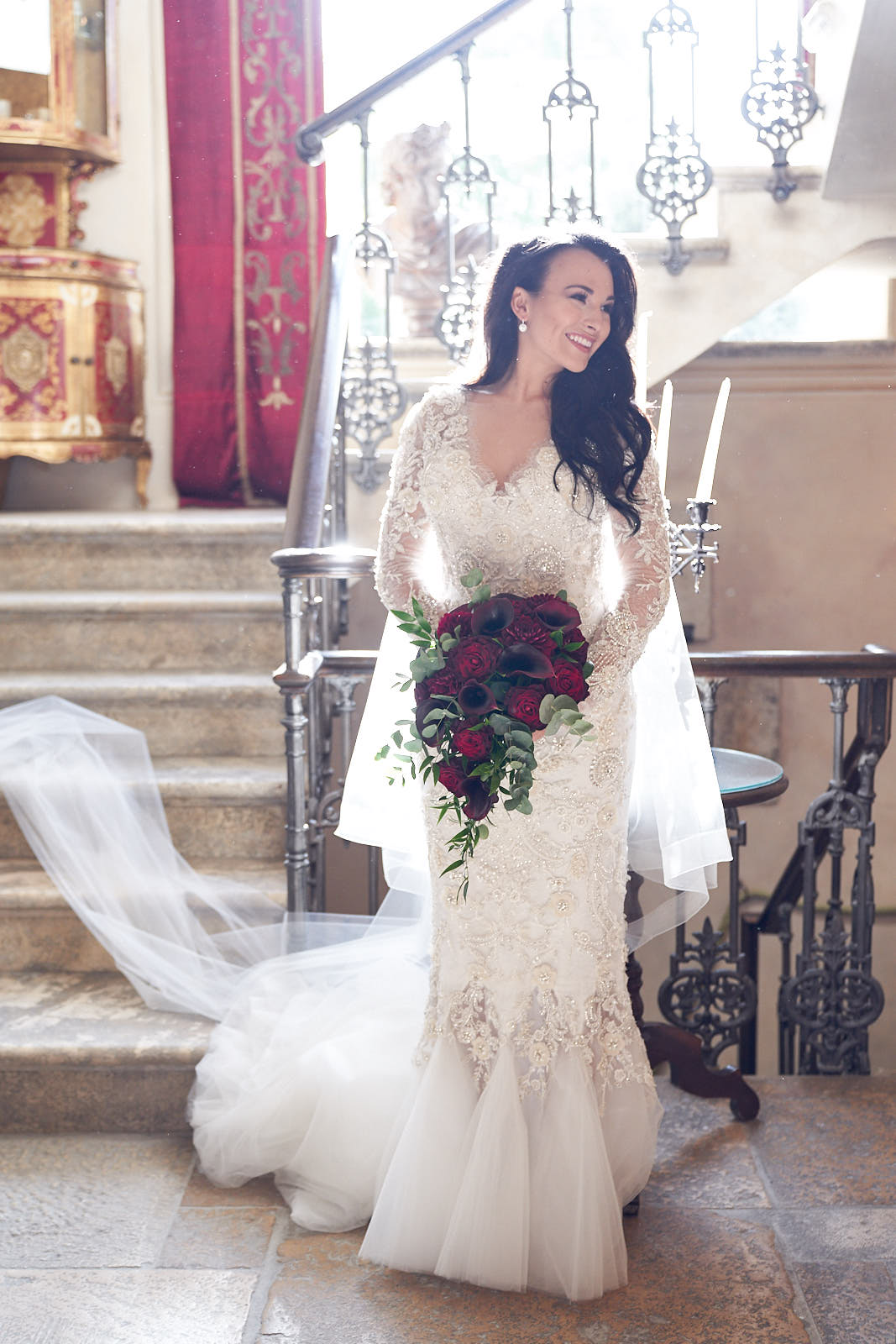 Borgo Santo Pietro Wedding Tuscany. Marchesa Wedding Gown
