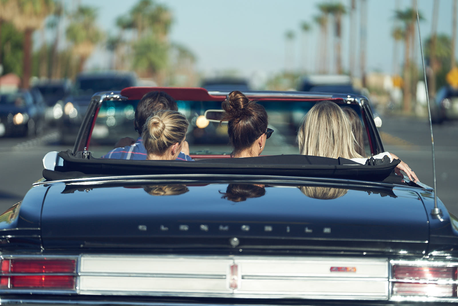Tash Oakleigh & Devon Brugman on their way to BEAR launch Frank Sinatra's House Palm Springs by Lost In Love Photography