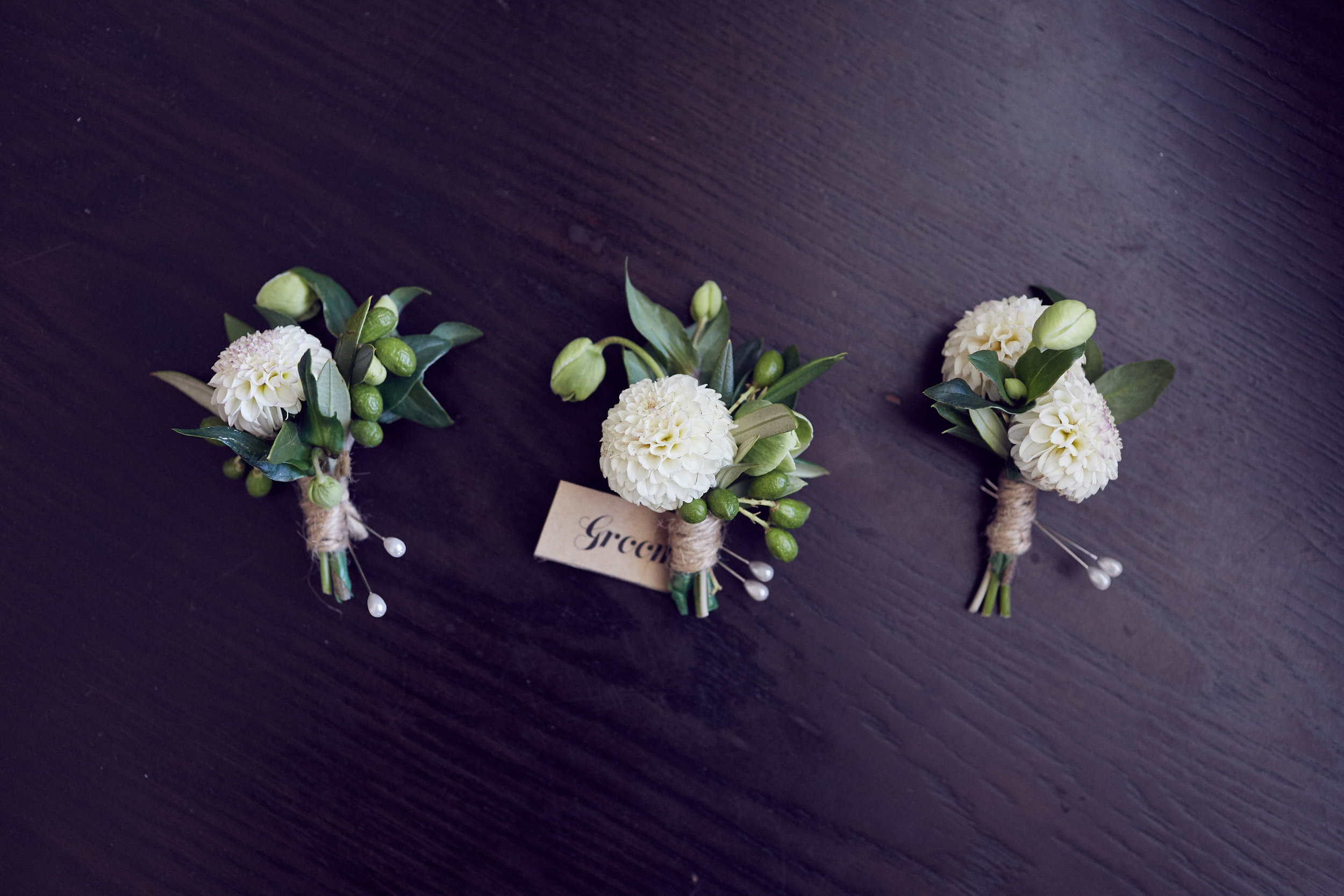 Boutonnieres by Raven and The Rose