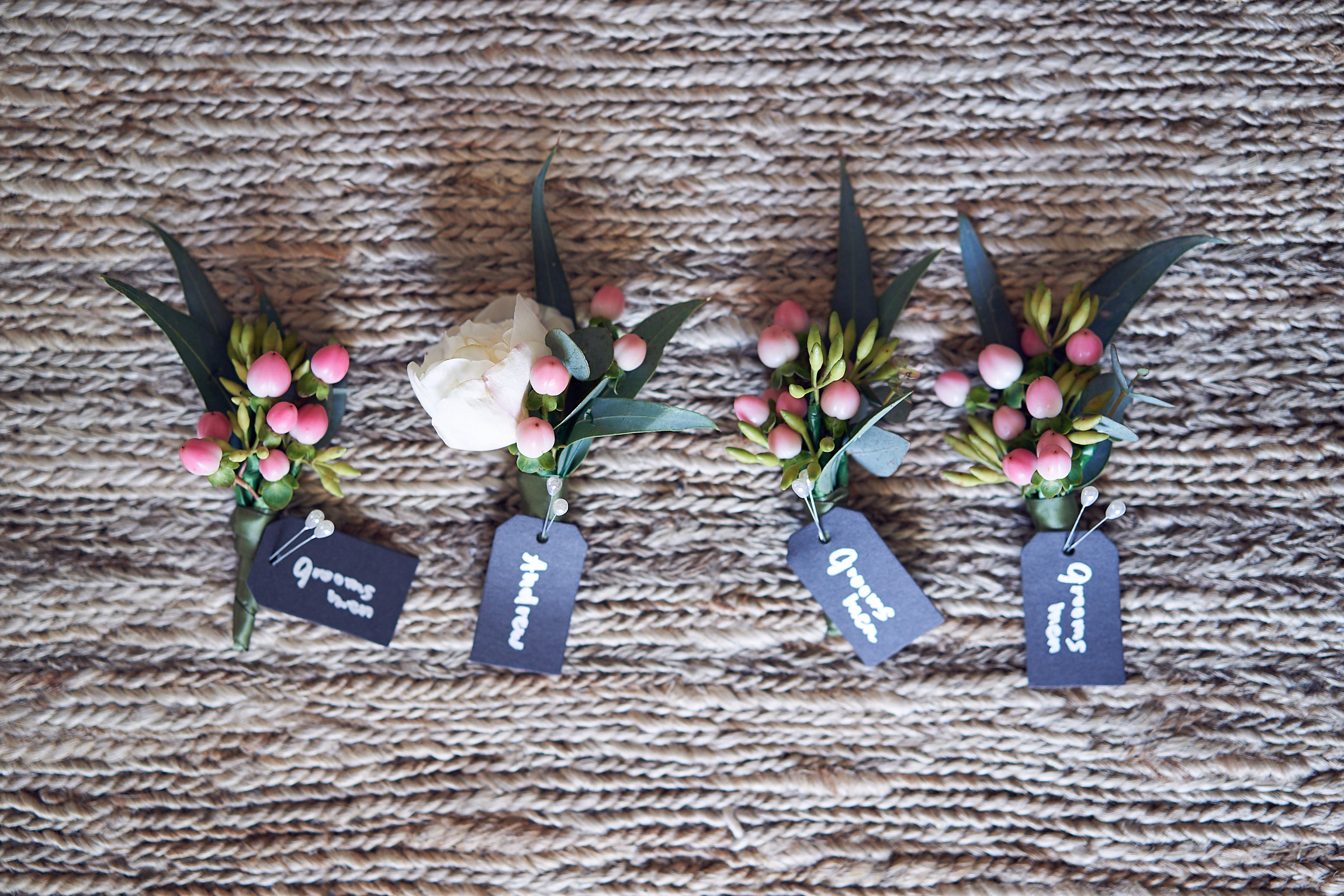 Boutonnieres by Sugarbee Flowers