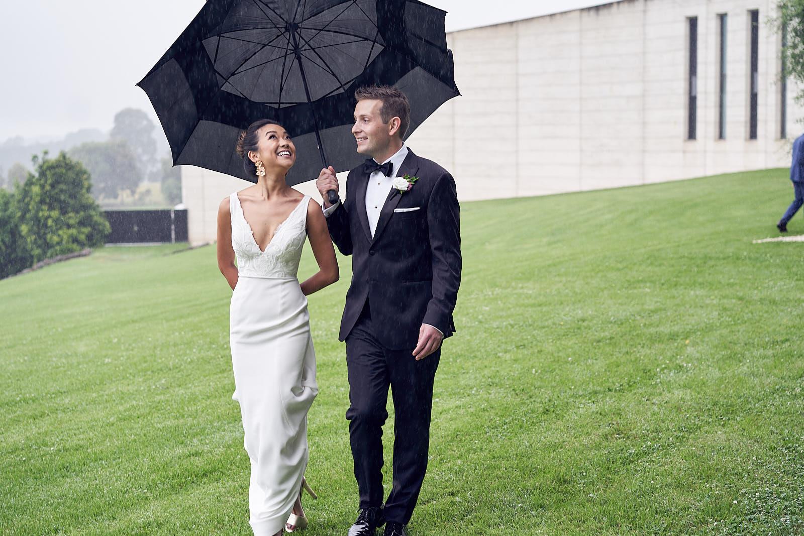 J & S Port Phillip Estate Wedding by Lost In Love Photography. #rainonyourweddingday
