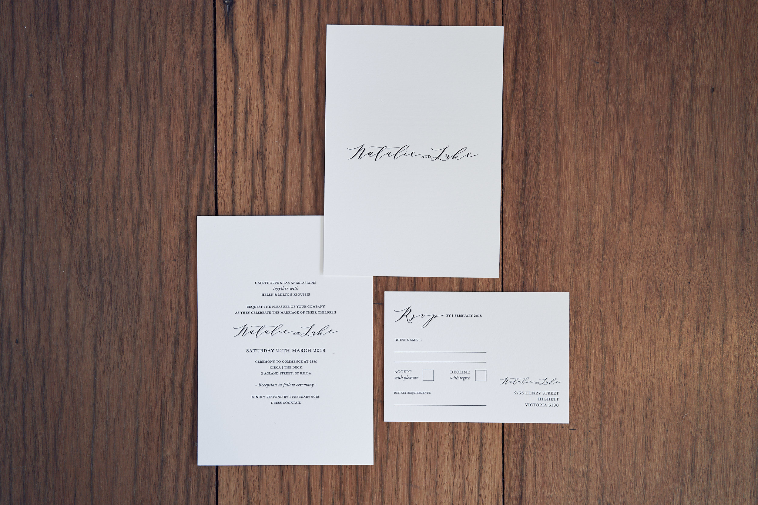 Modern wedding invitations by Wedding Paper Chic - Lost In Love Photography