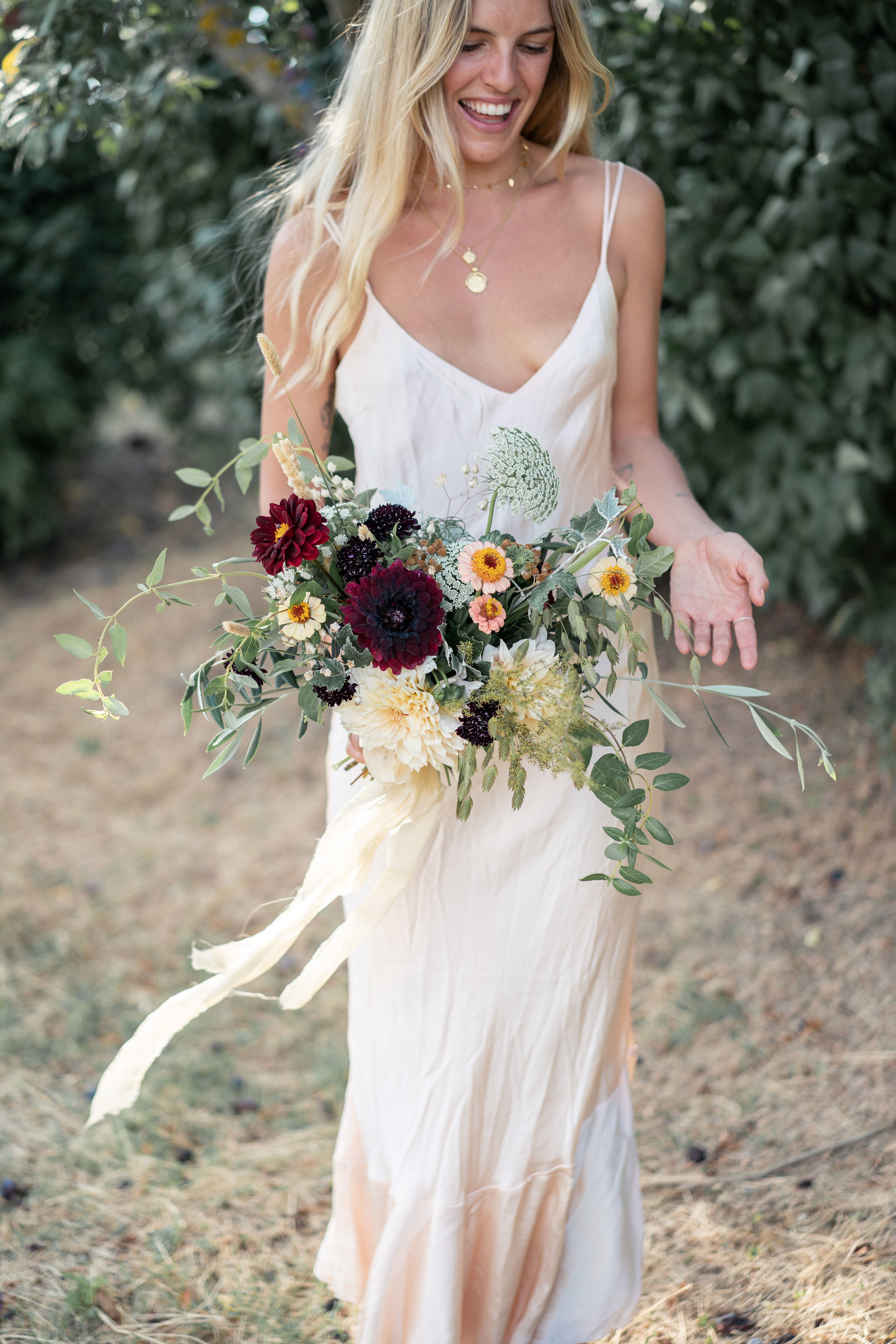 Dahlia, Rose, coneflower, echinacea flower, Floristry Workshop Tuscany by Lost In Love Photography