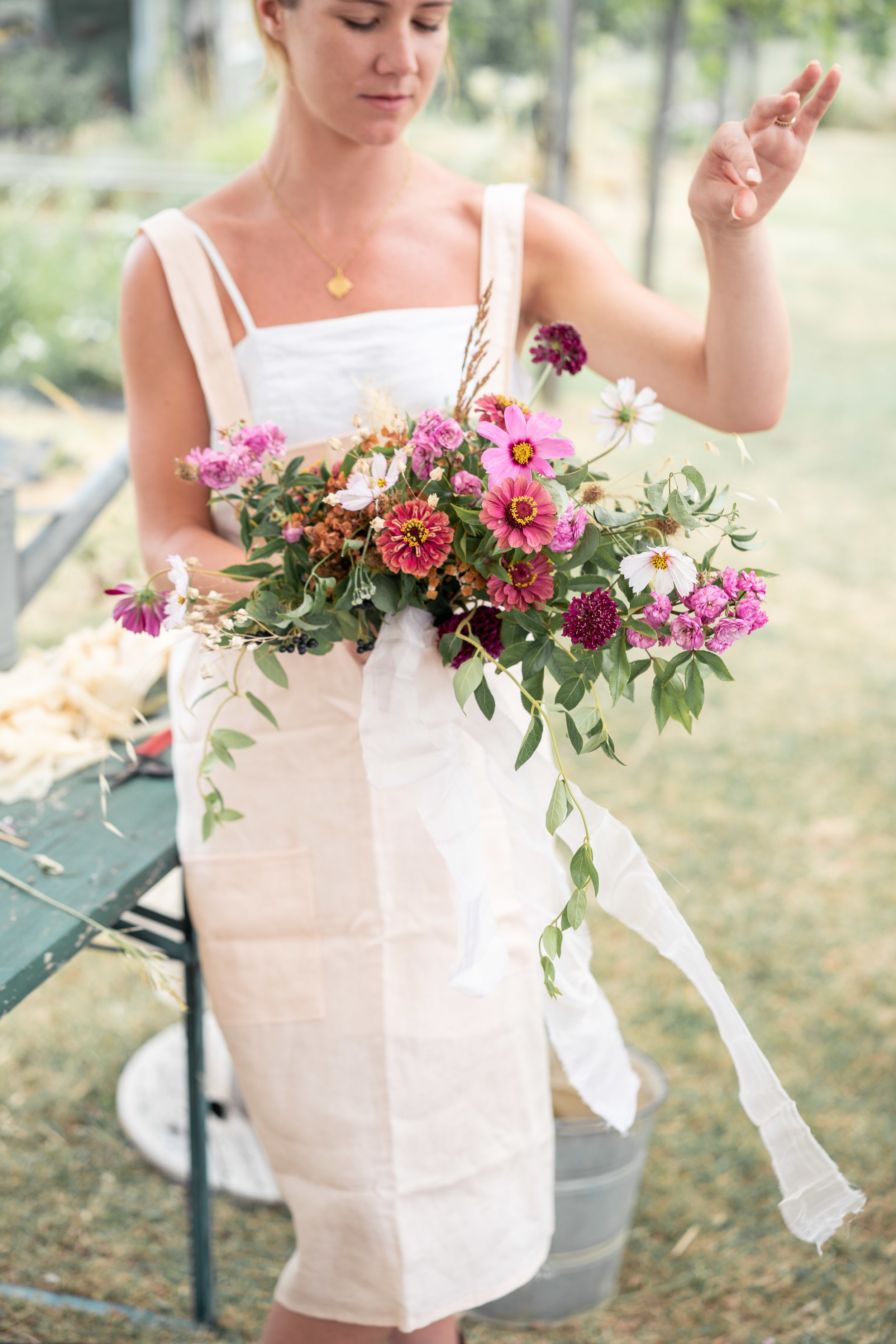 Dahlia, Rose, coneflower, echinacea flower, Puscina flower farm Floristry Workshop Tuscany by Lost In Love Photography