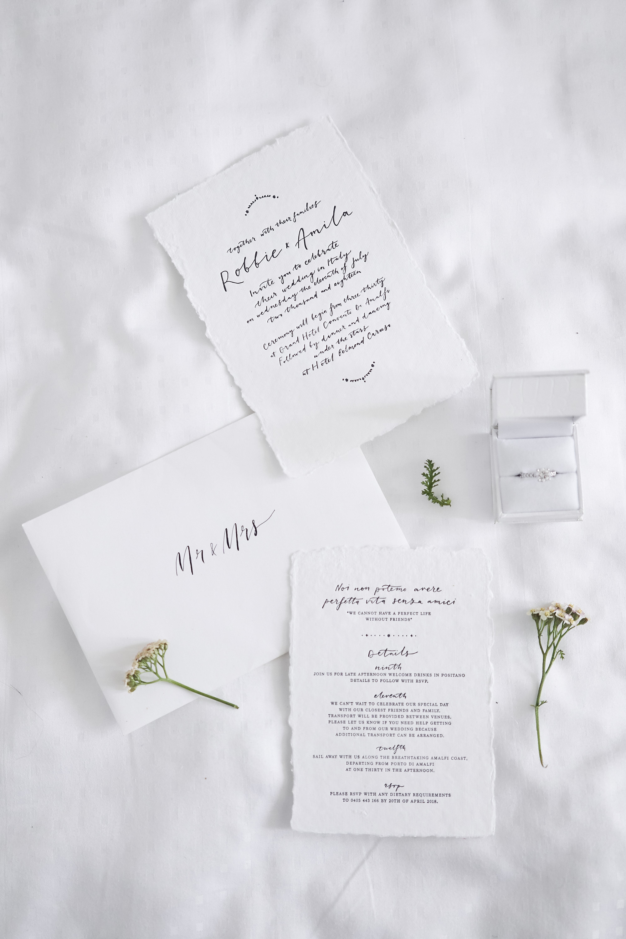 Intimate Amalfi Coast Wedding Invitation