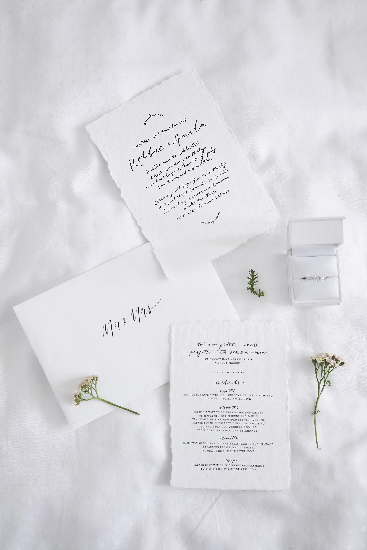 Intimate Amalfi Coast Wedding Invitation