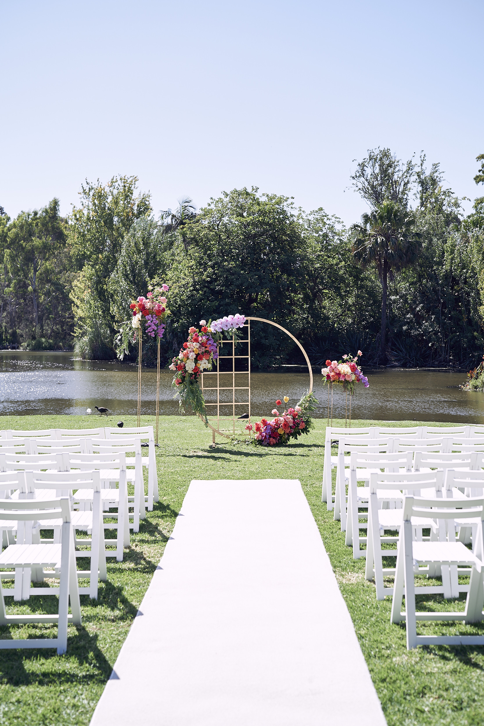 Melbourne Botanical garden wedding. ceremony styling. Lost In Love Photography