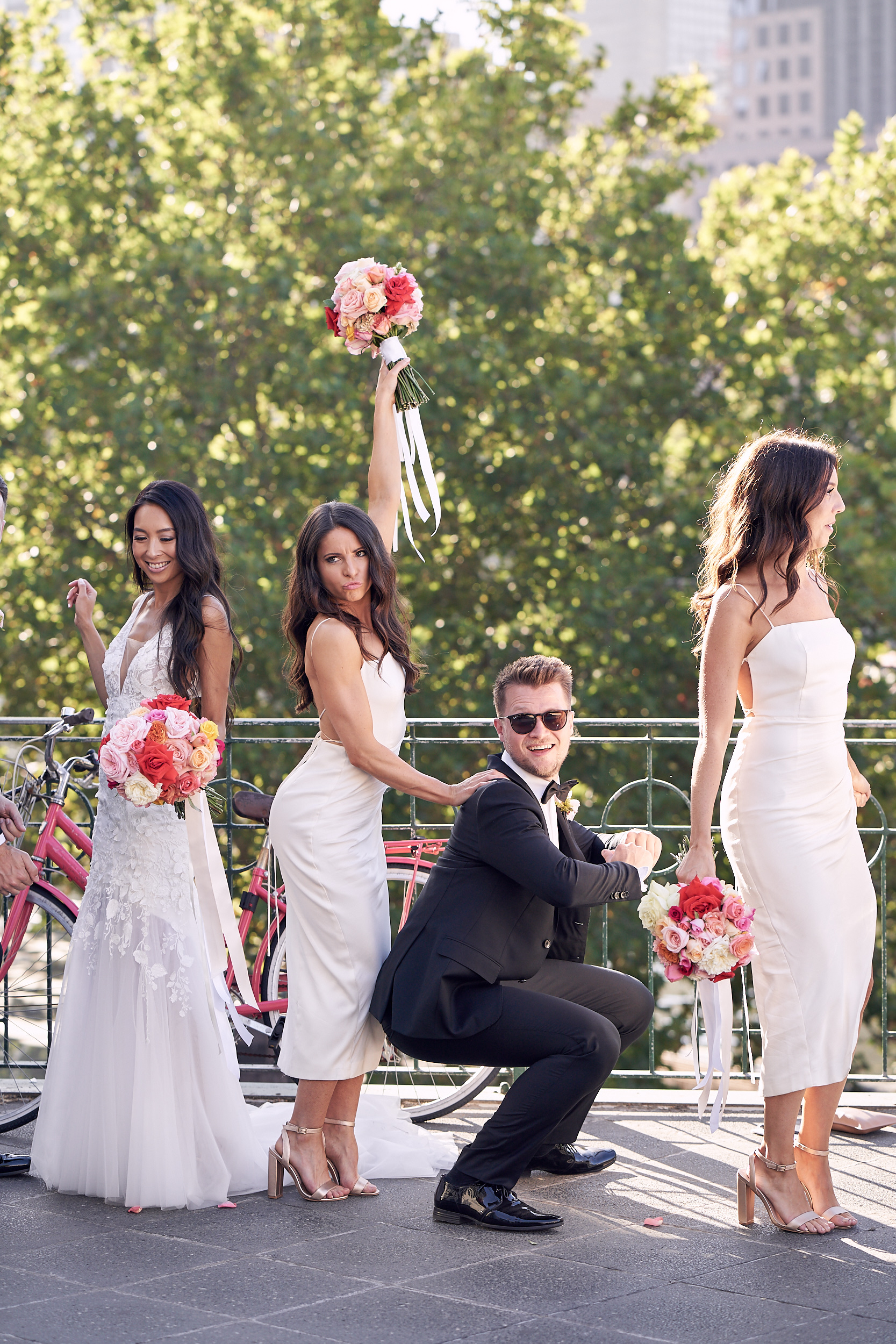 Melbourne Metropolis wedding bridal party photo by lost in love photography