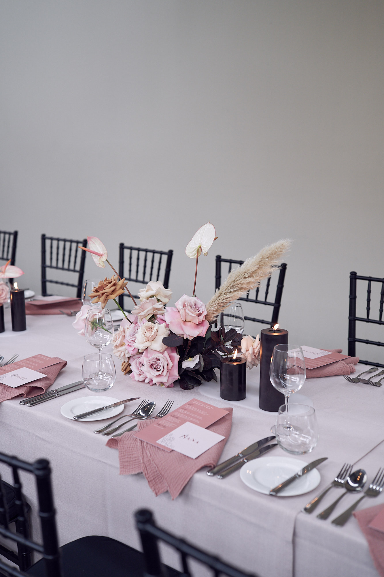 Reception styling inspiration by Creating Beautiful. Photo by Lost In Love Photography