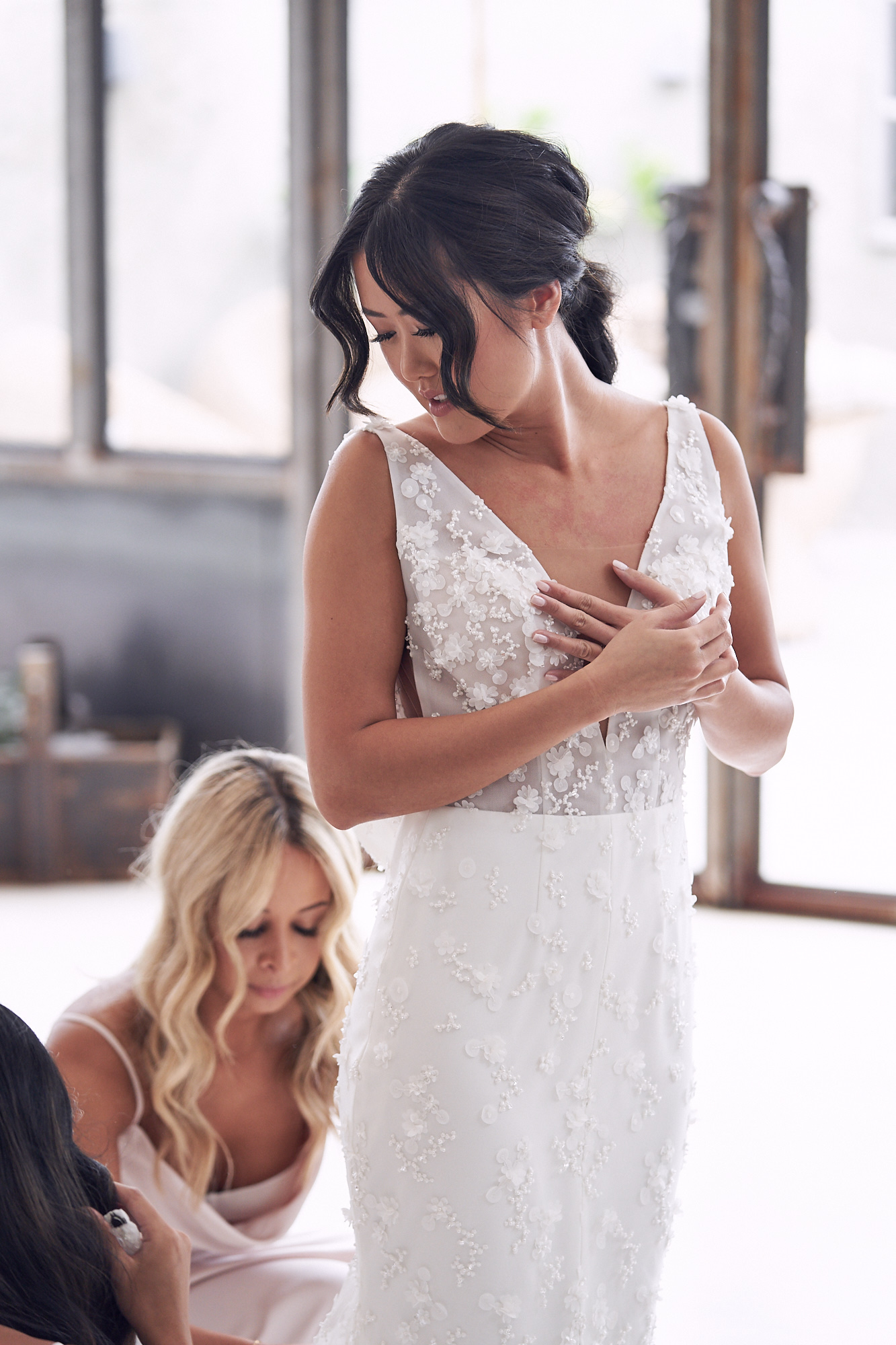bride prep Stones Of The Yarra Valley Wedding photos by Lost In Love Photography