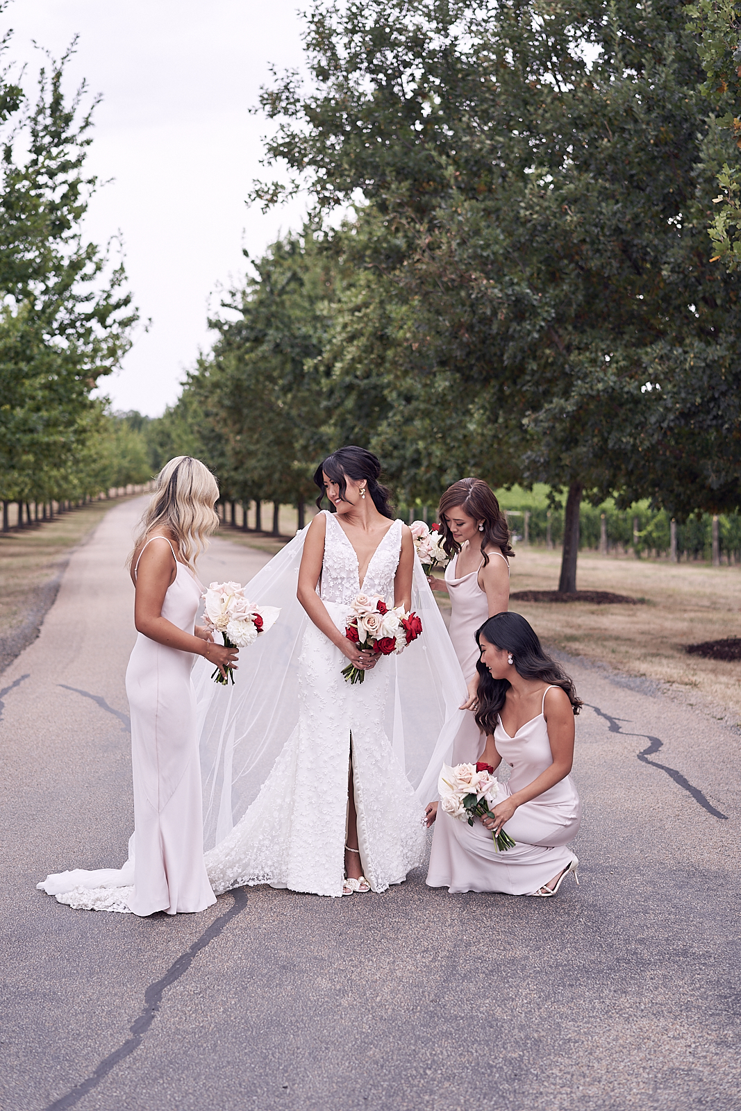 bridesmaids. Stones Of The Yarra Valley Wedding Photos by Lost In Love Photography