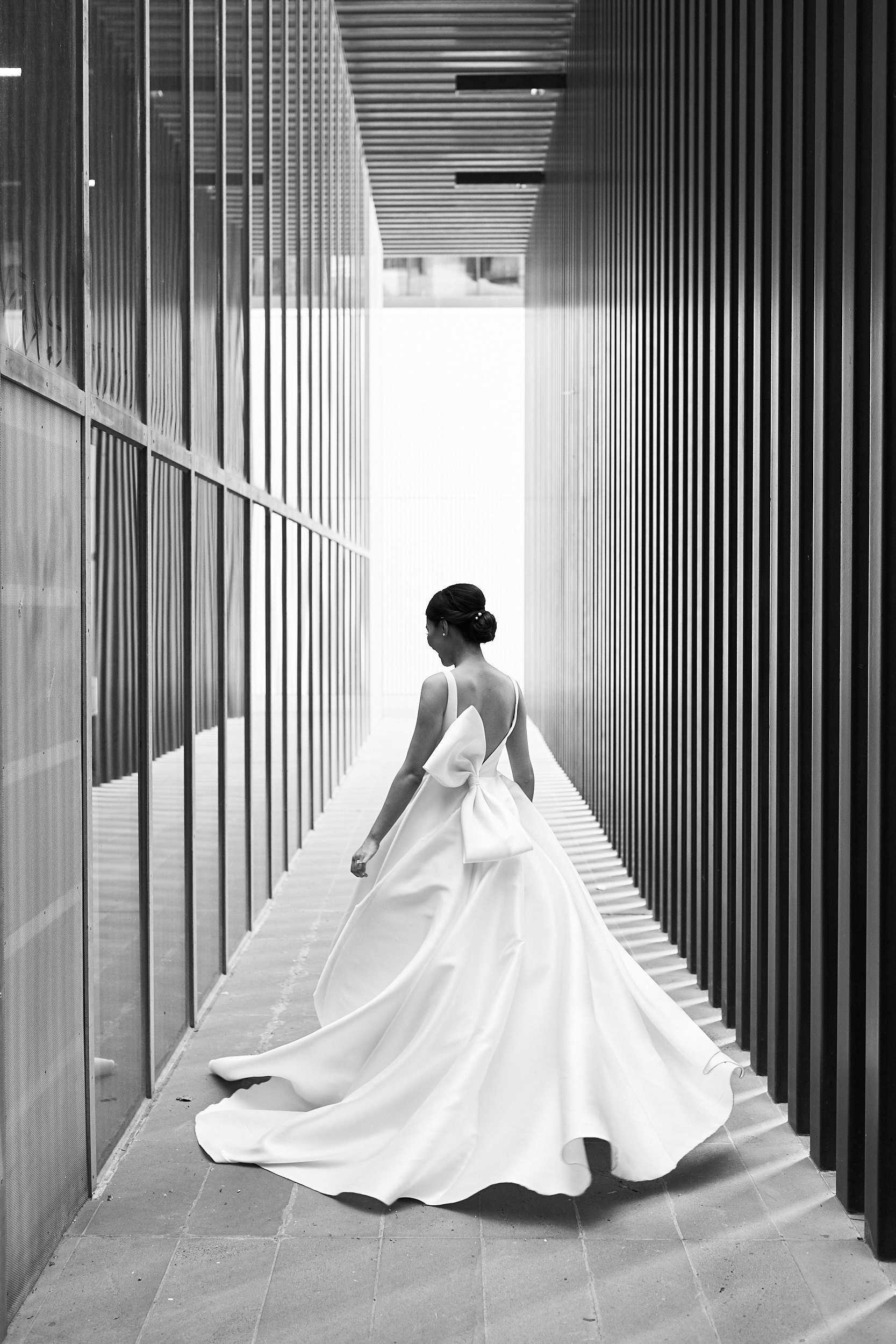 Simple Wedding Dress by Jason Grech. Photo by Lost In Love Photography
