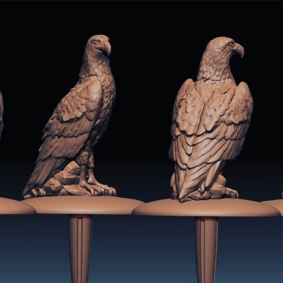 An Eagle Topper I sculpted for Valley Forge Stillworks, soon to be 3D printed and cast in pewter. #valleyforgestillworks #micahmyerov #zbrush #miniature #animal #sculpt #baldeagle #pa