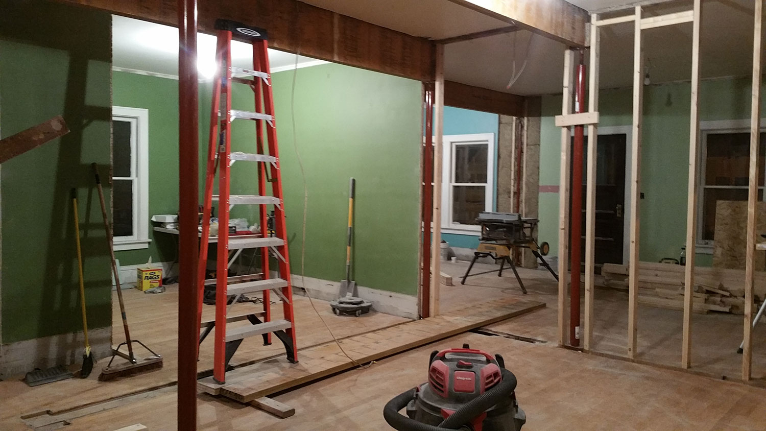 Progress view of new dining room