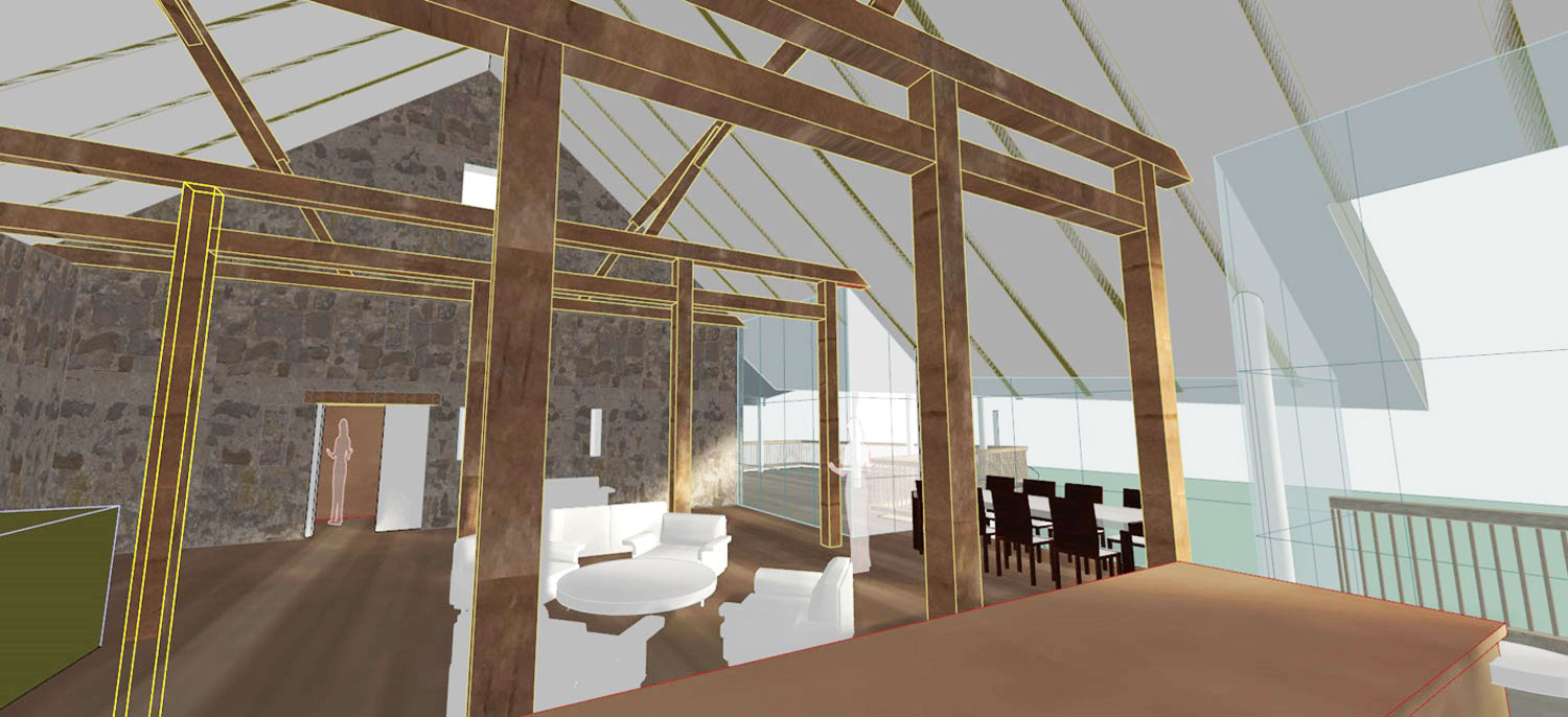 Proposed interior view of main living space