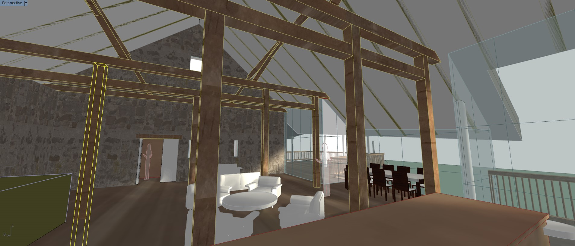 3D model interior visualization