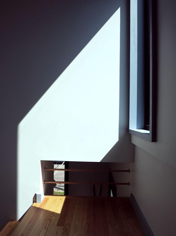 Window at stair landing