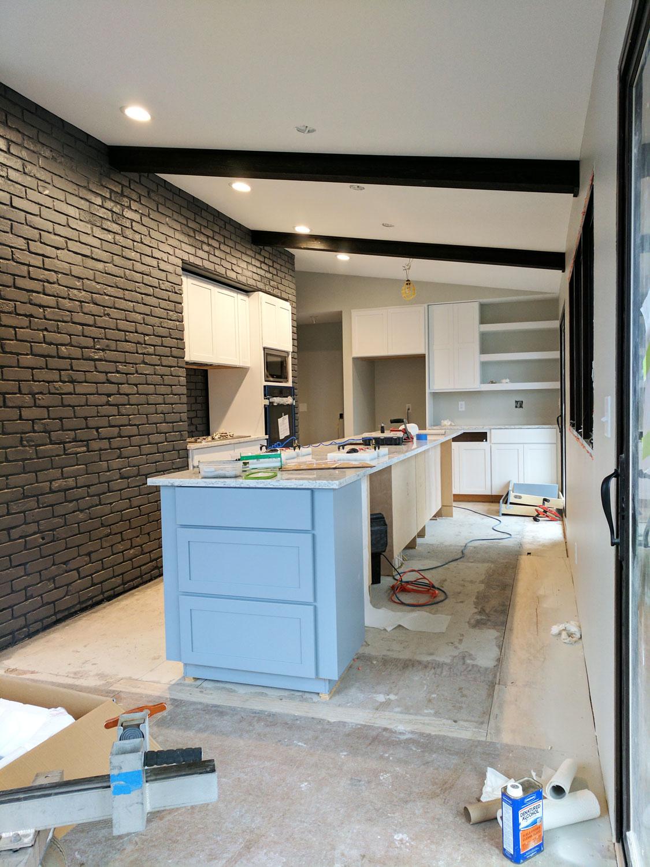 The kitchen in progress . . .
