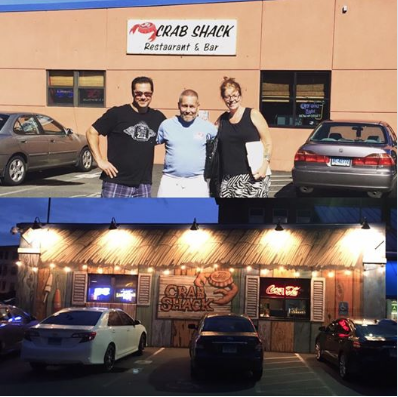 J's Crab Shack, Hartford, CT before and after, exterior mural.