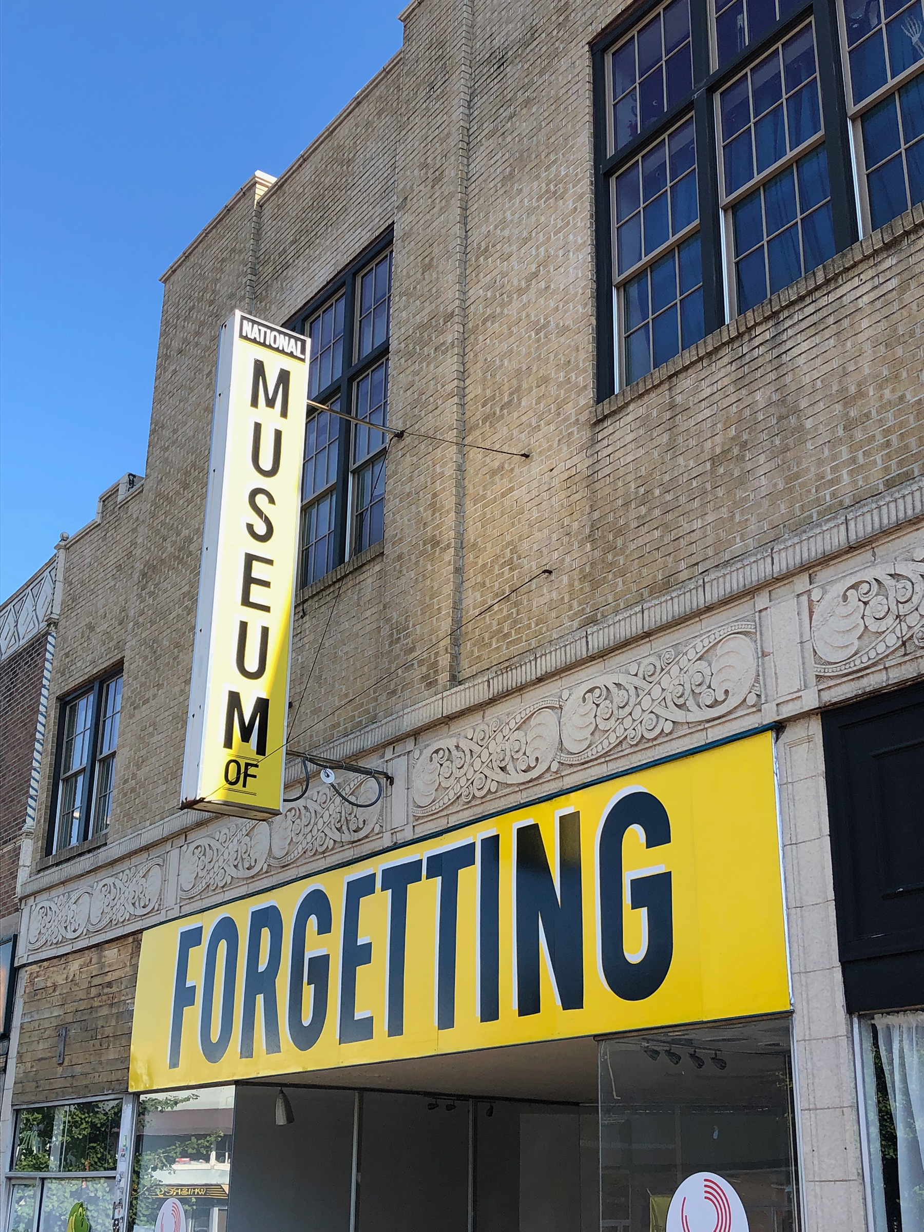 Joseph del Pesco and Jon Rub. Monuments, Ruins, and Forgetting. Photo taken in July, 2019 while visiting  Counterpublic .