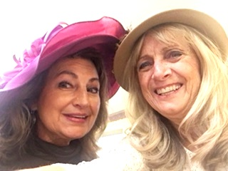 Lisa Edwares and Becky Spell Vann pose in their hats at our 1st Annual Tea Party. -