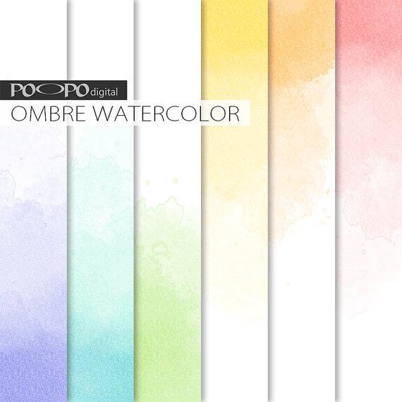 Ombre Watercolor