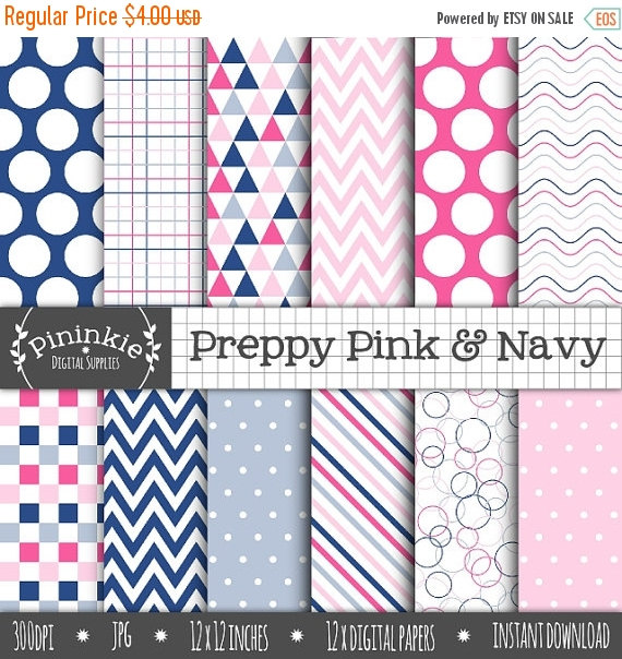 Preppy Pink & Navy