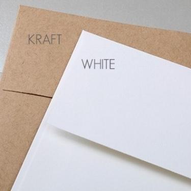 White & Kraft Envelopes