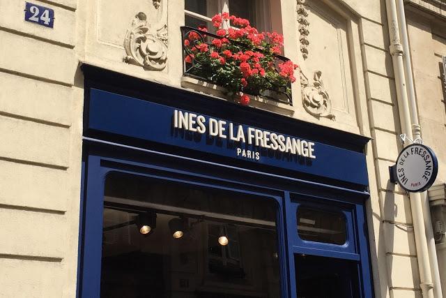 Enseigne - Boutique Inès de la Fressange Paris - Le Petit Florilège