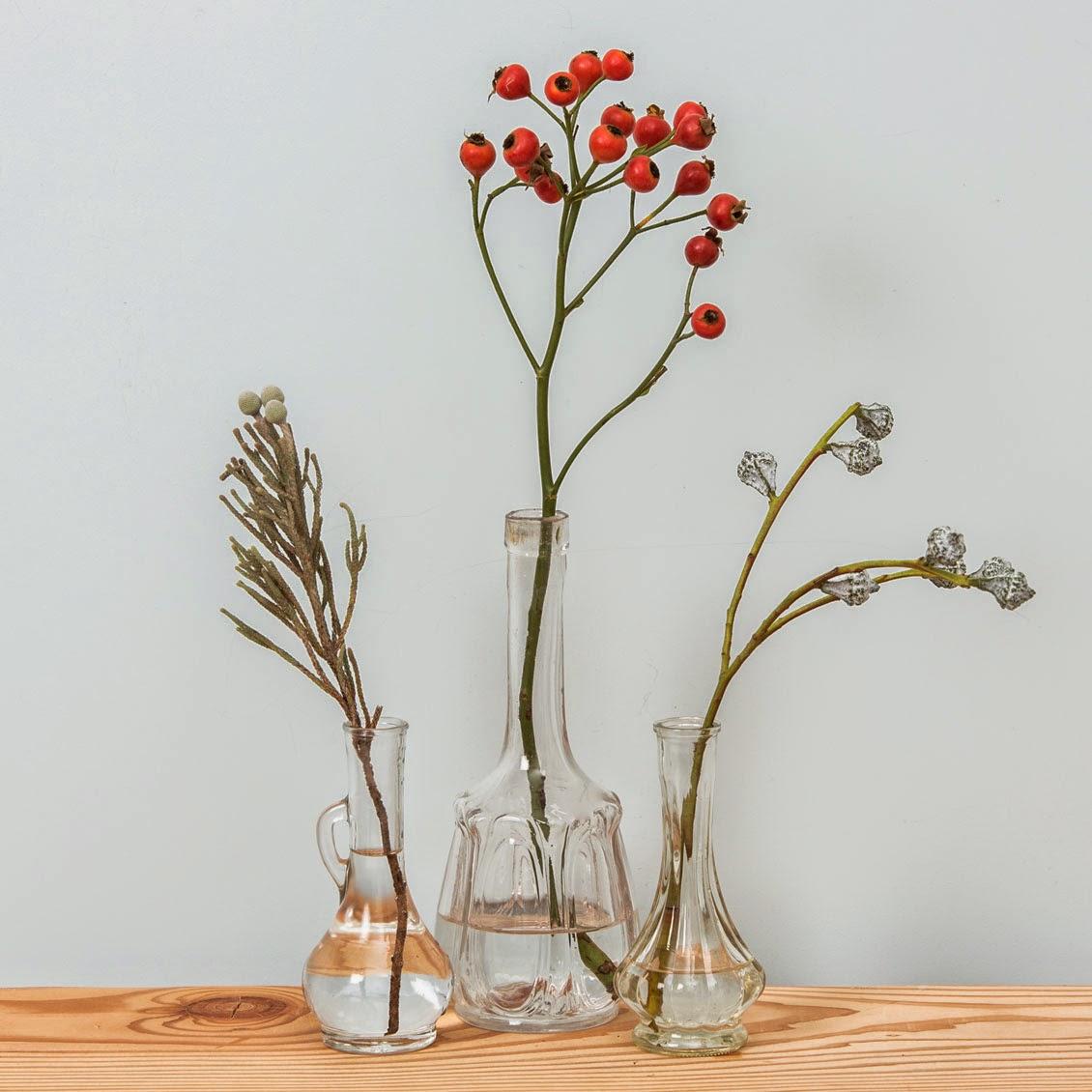 Flacons soliflore vintage - Le Petit Florilège