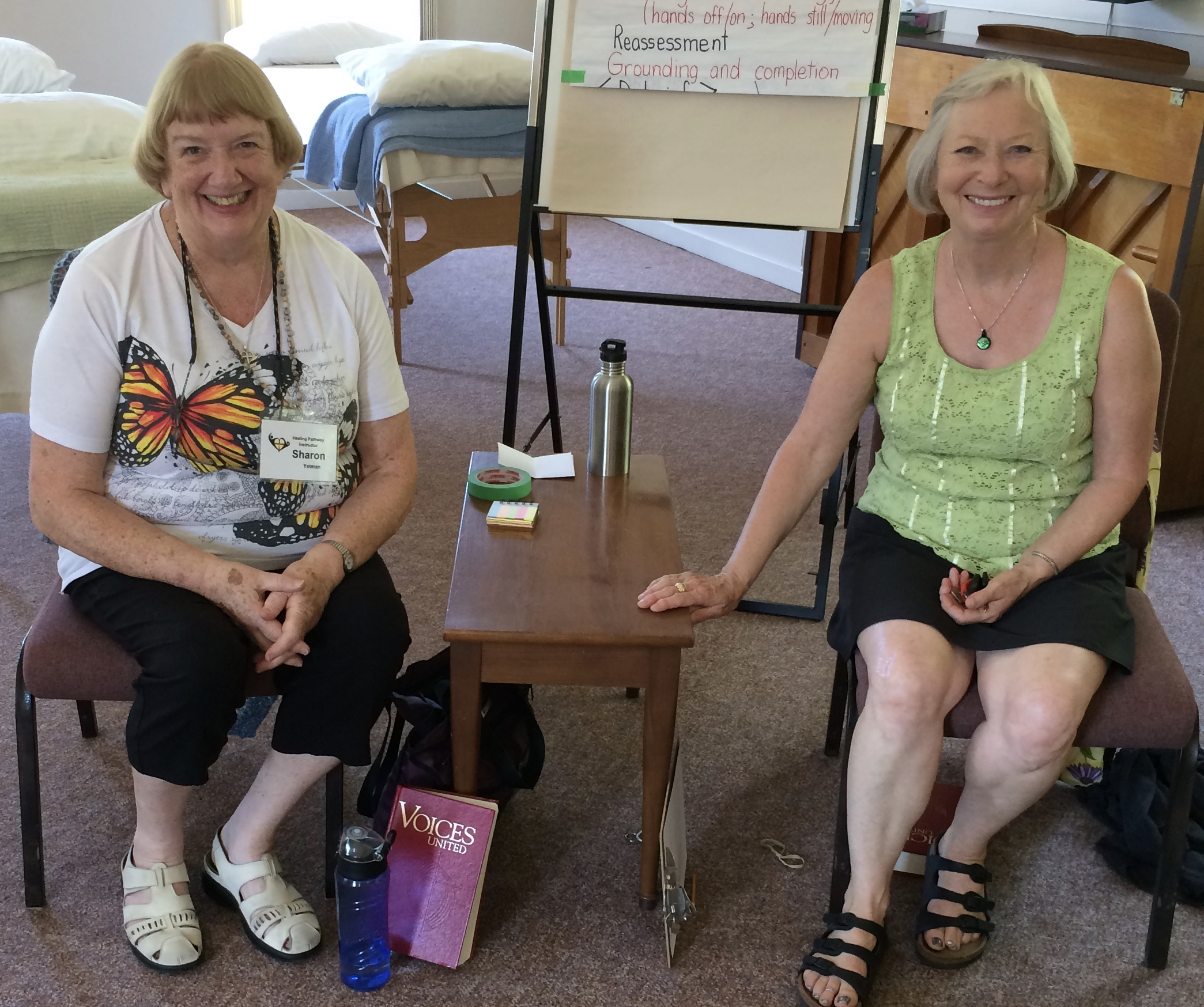 healing Pathway Practitioners sharon Yetman and deb firus offered sessions this week