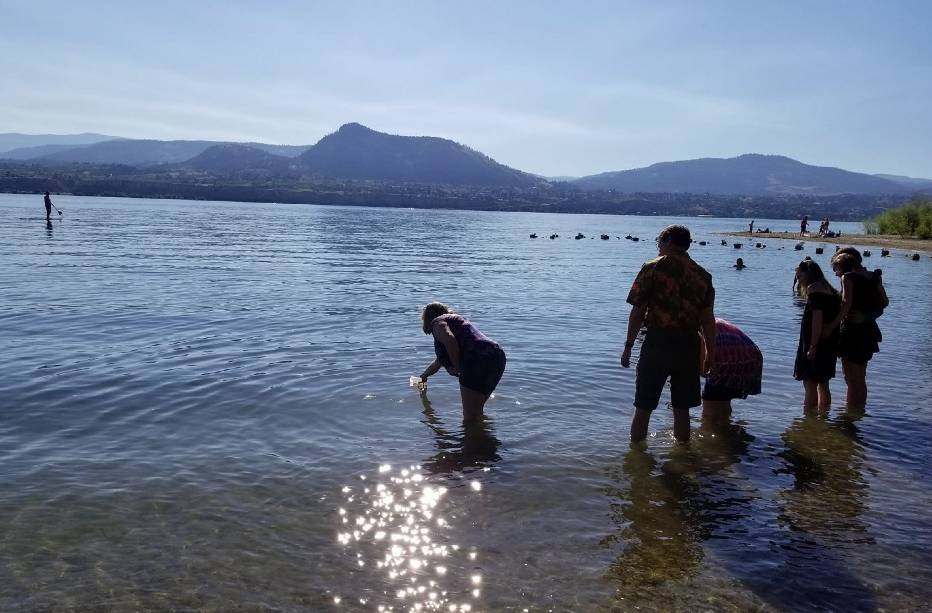 releasing the luminaries into the lake