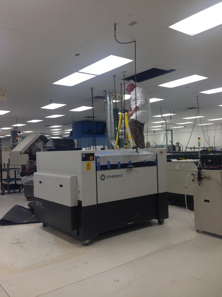 New laser being installed