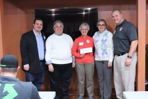 BG Area Community Band being presented grant check.