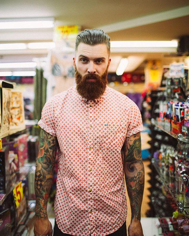 A beard & button up will always be a winning combo.