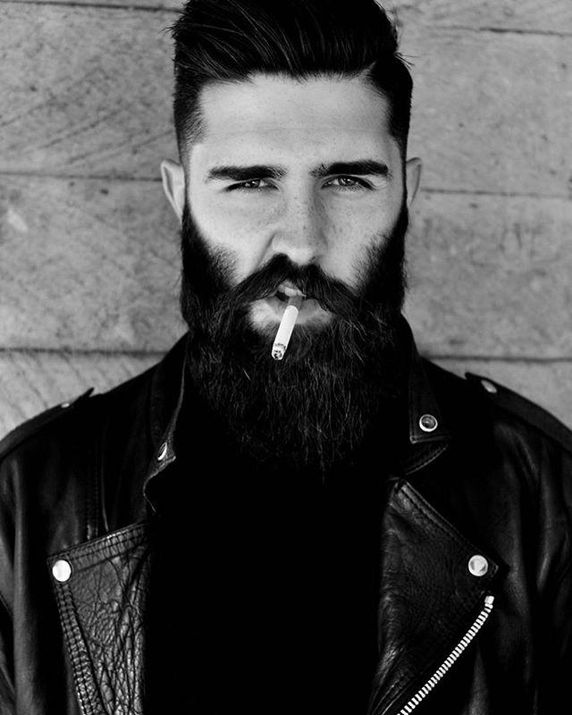 Beard + Leather jacket = Fall essentials