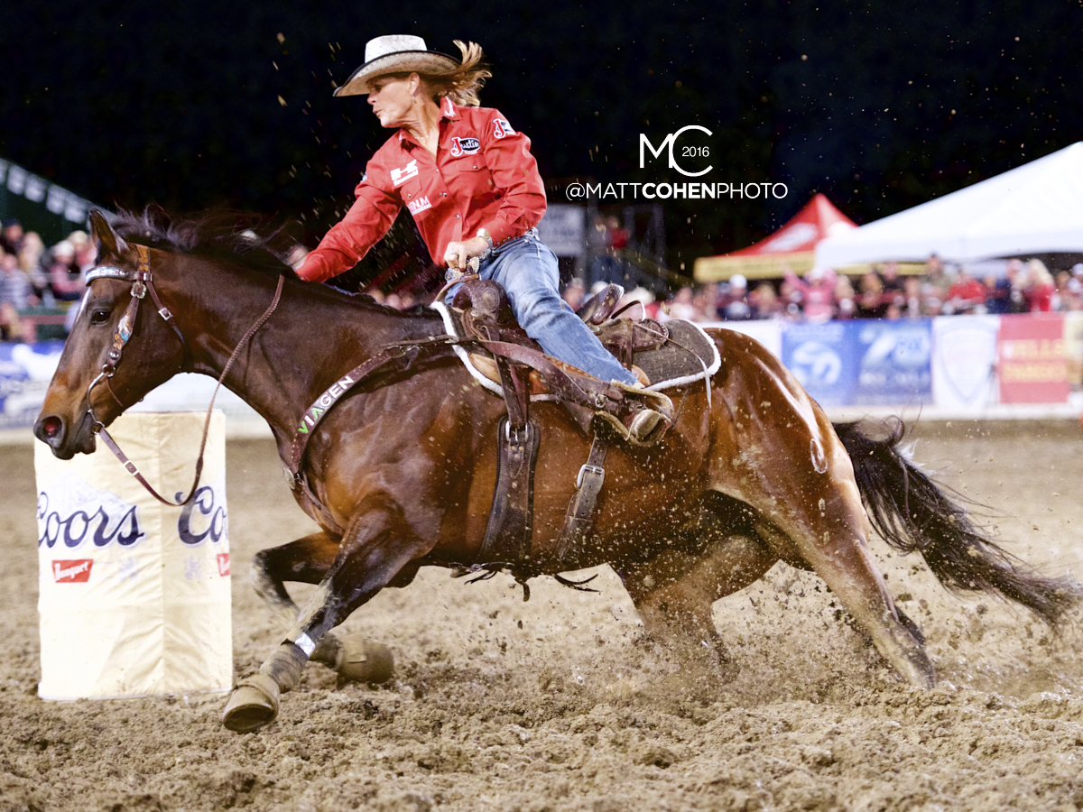 2016 WNFR: Wrangler National Finals Rodeo Qualifiers: Barrel Racing #3 Mary Walker