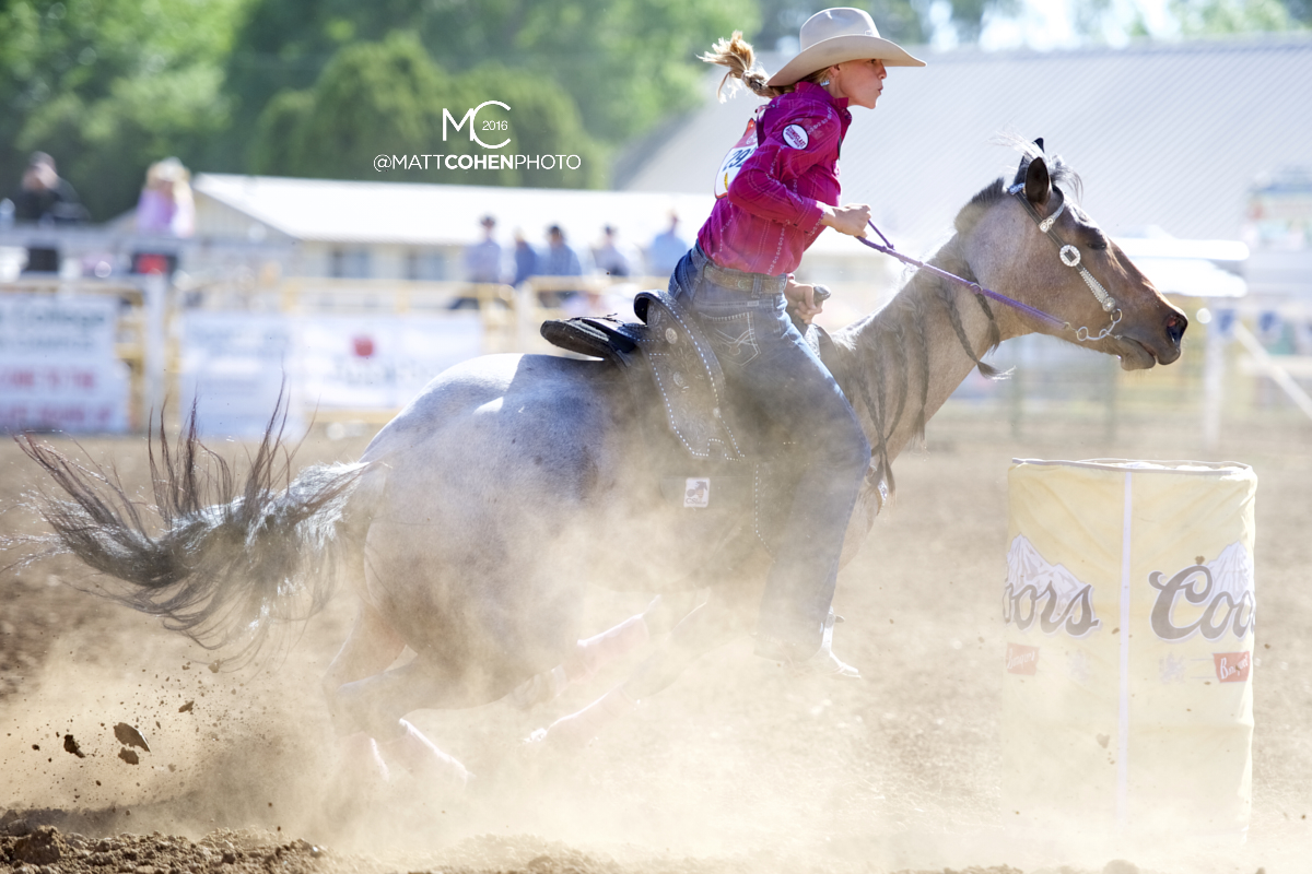 2016 WNFR: Wrangler National Finals Rodeo Qualifiers: Barrel Racing #8 Sarah Rose McDonald