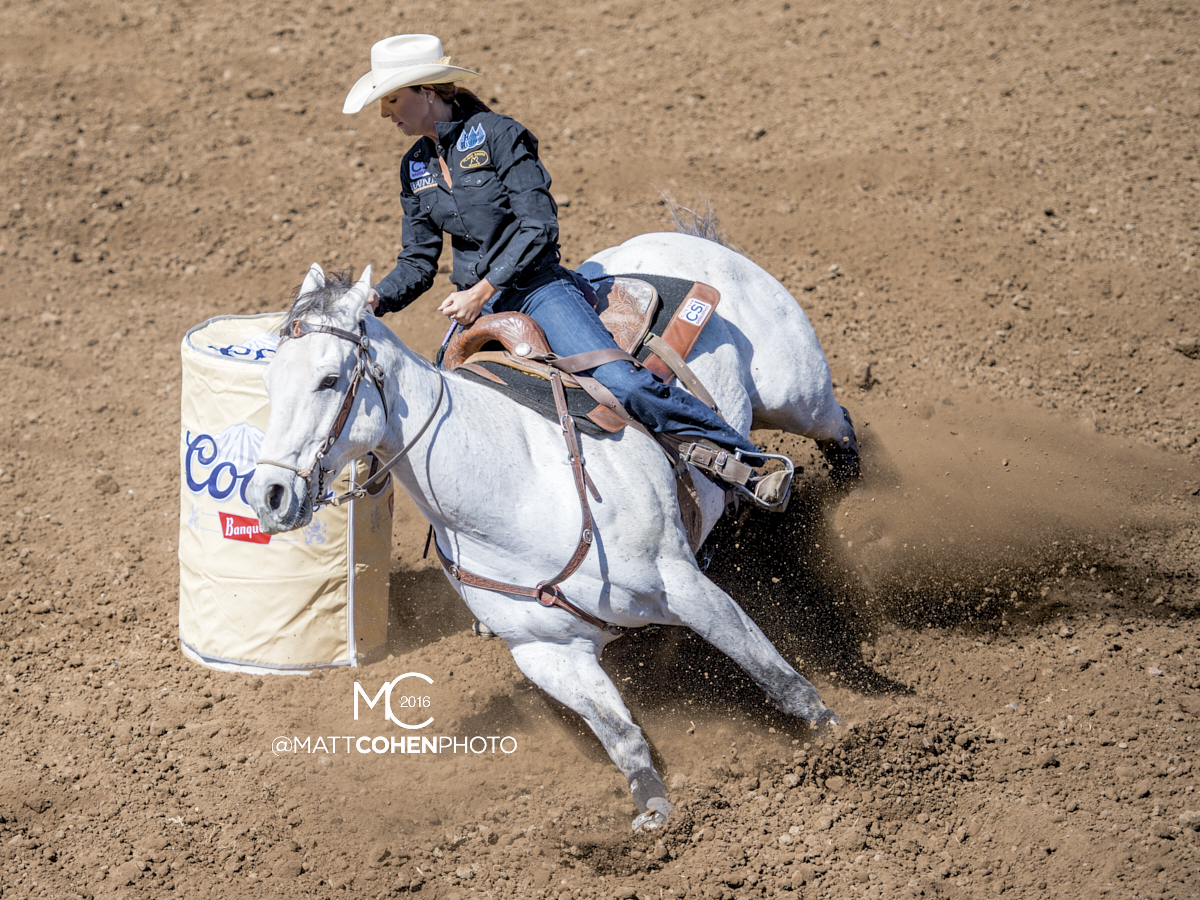 2016 WNFR: Wrangler National Finals Rodeo Qualifiers: Barrel Racing #13 Carly Richardson