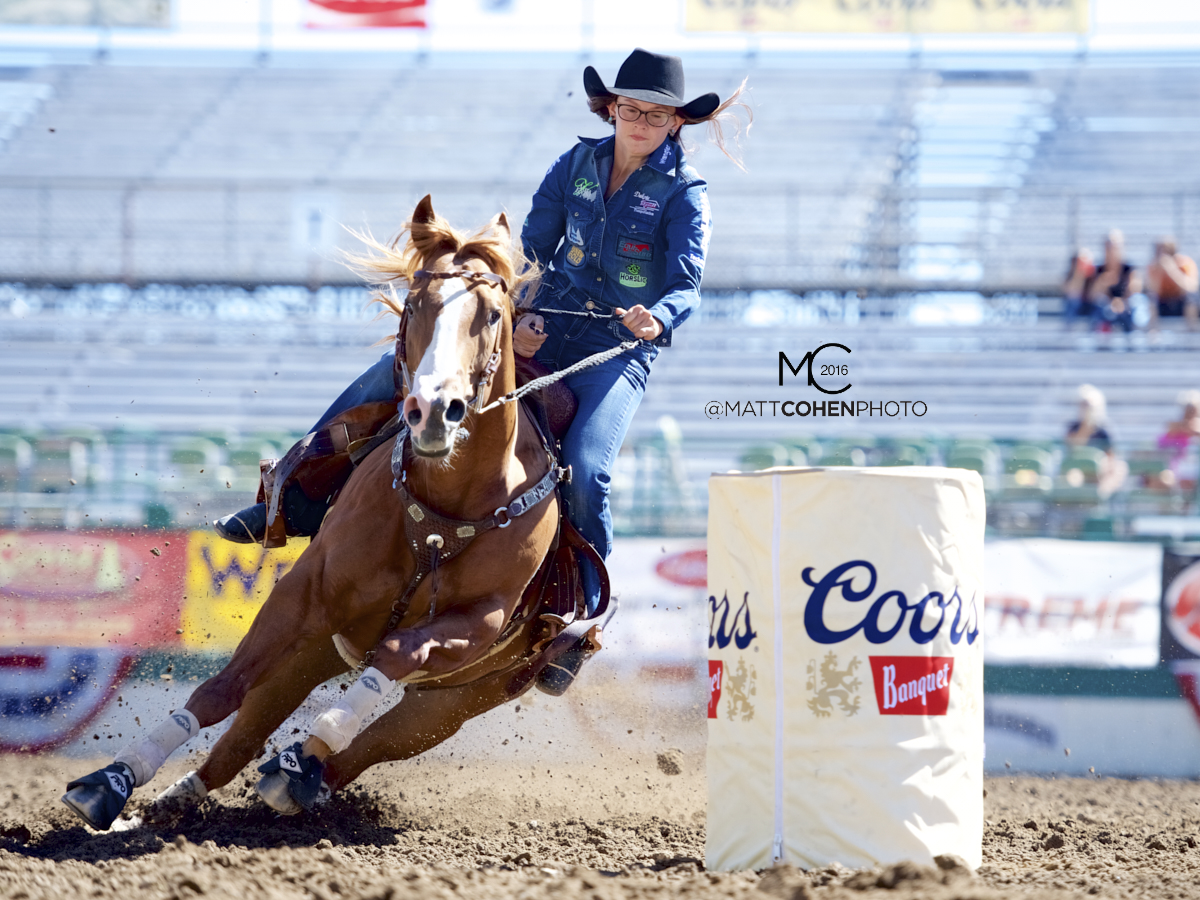 2016 WNFR: Wrangler National Finals Rodeo Qualifiers: Barrel Racing #4 Ivy Conrado