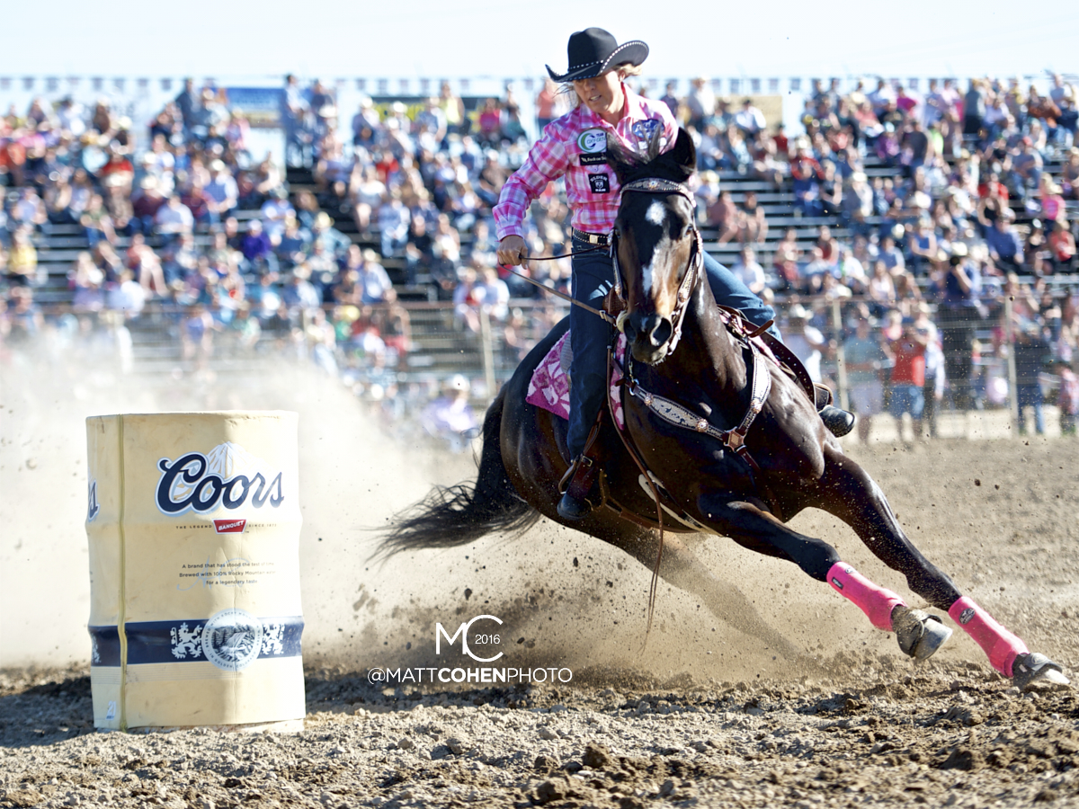 2016 WNFR: Wrangler National Finals Rodeo Qualifiers: Barrel Racing #9 Michele McLeod