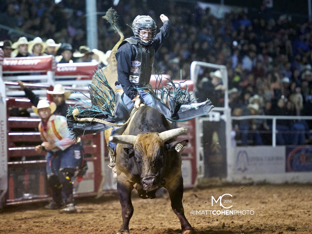 2016 WNFR: Wrangler National Finals Rodeo Qualifiers: Bull Riding #12 Garrett Tribble