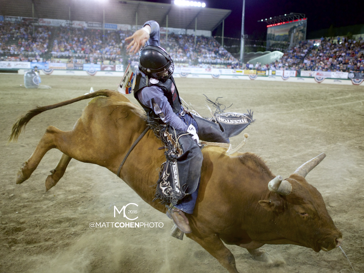 2016 WNFR: Wrangler National Finals Rodeo Qualifiers: Bull Riding #6 Cody Teel