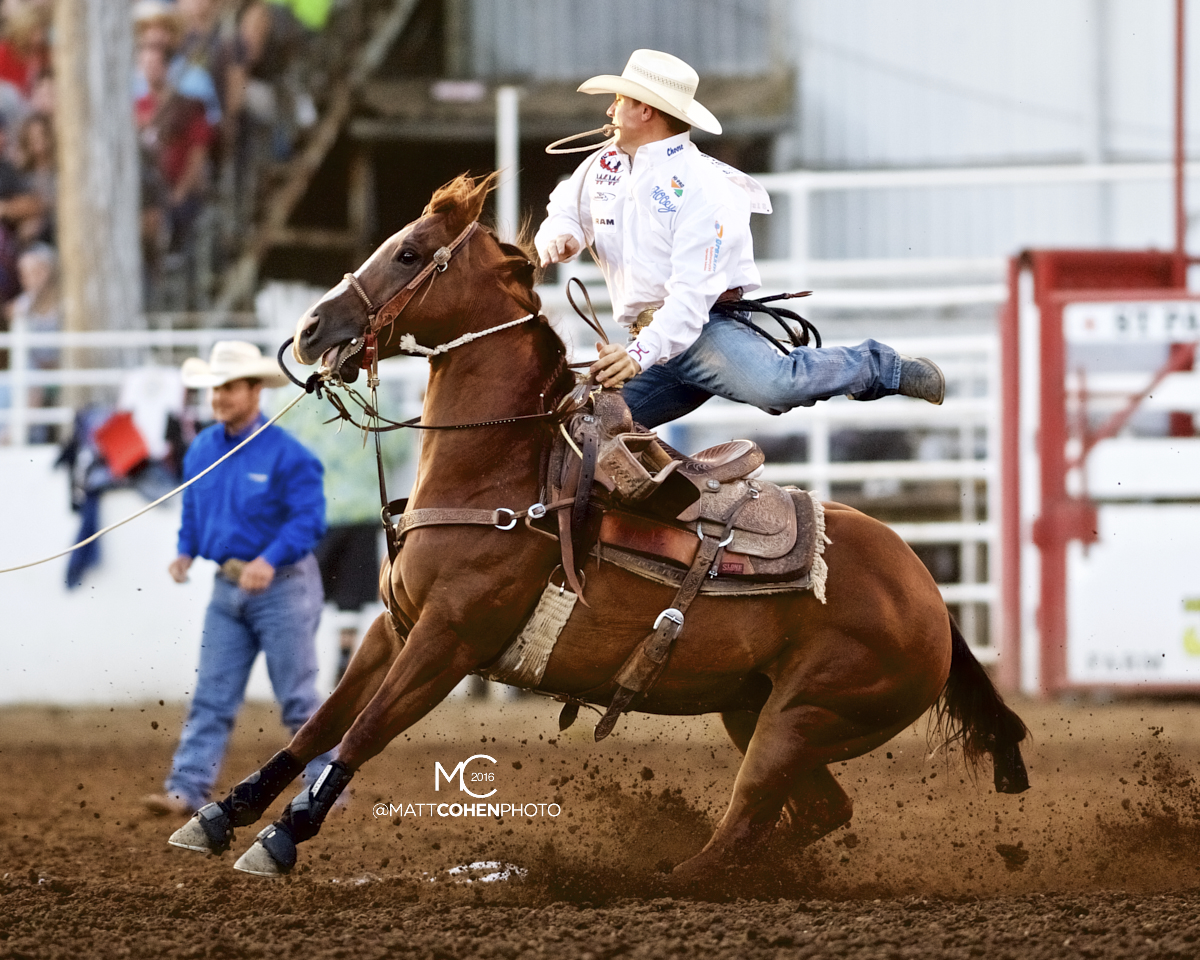 2016 WNFR: Wrangler National Finals Rodeo Qualifiers: Tie-Down Roping #7 Reese Riemer