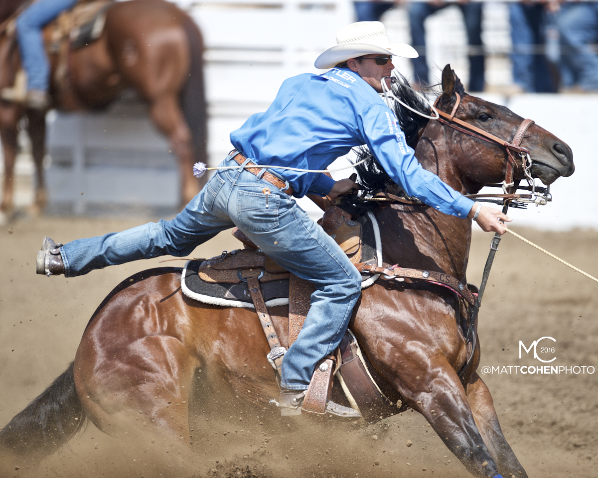 2016 WNFR: Wrangler National Finals Rodeo Qualifiers: Tie-Down Roping #8 Caleb Smidt