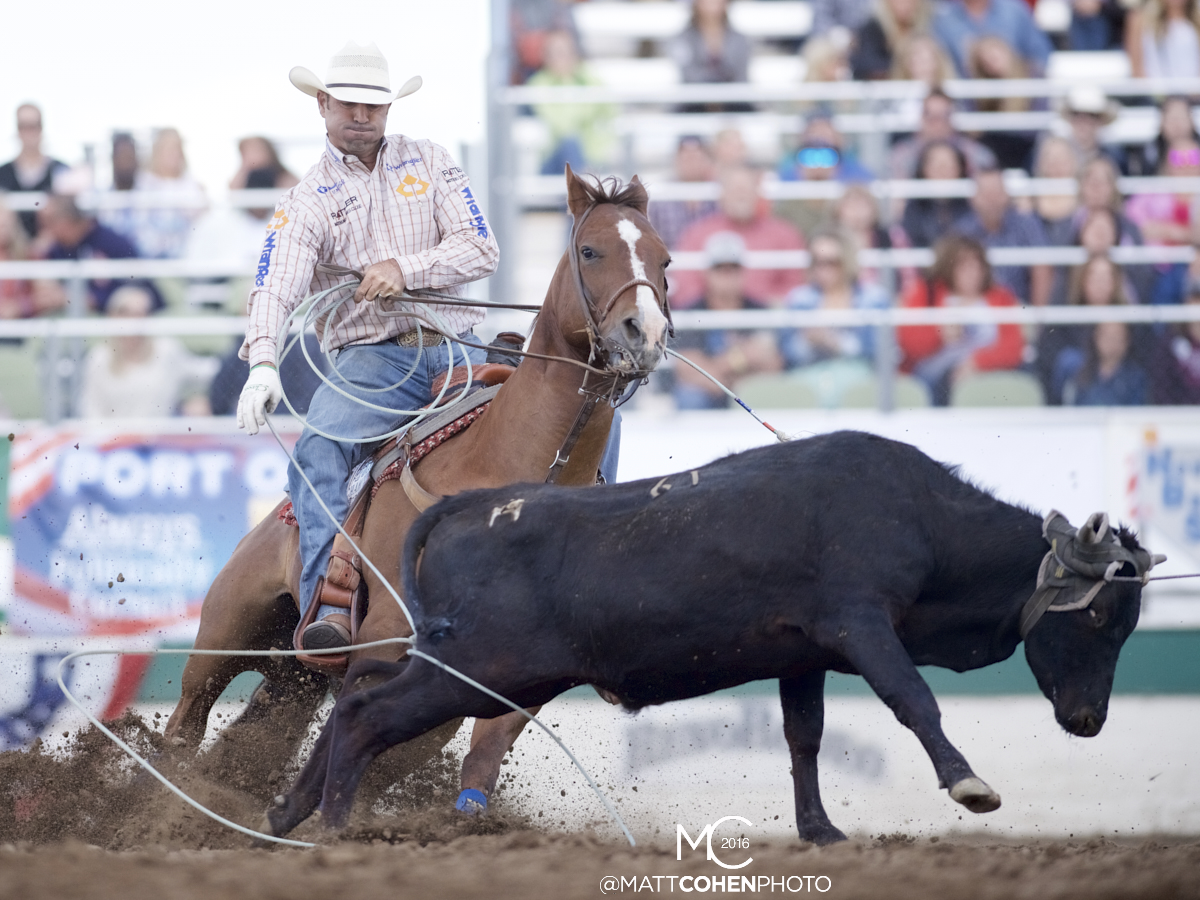 2016 WNFR: Wrangler National Finals Rodeo Qualifiers: Team Roping Heelers #9 Dugan Kelly