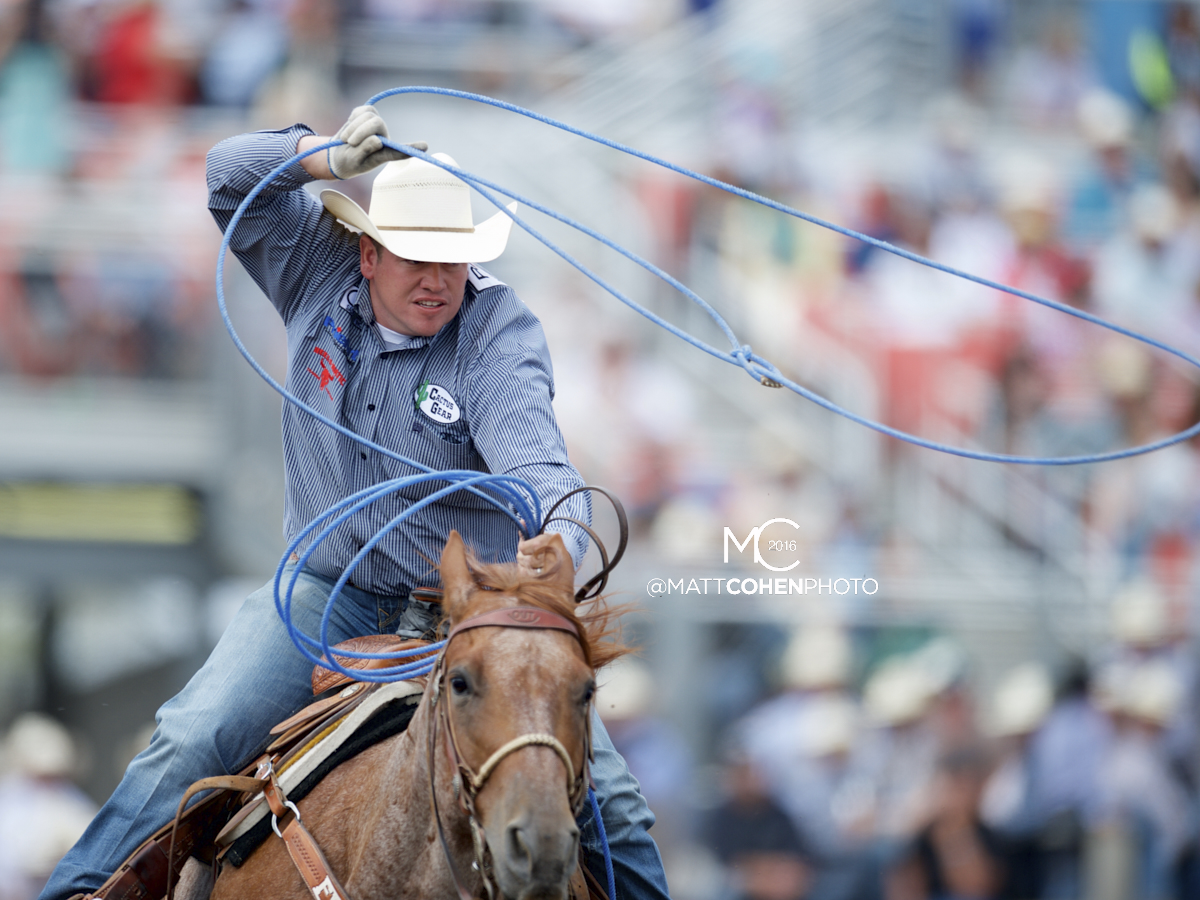 2016 WNFR: Wrangler National Finals Rodeo Qualifiers: Team Roping Heelers #6 Travis Graves