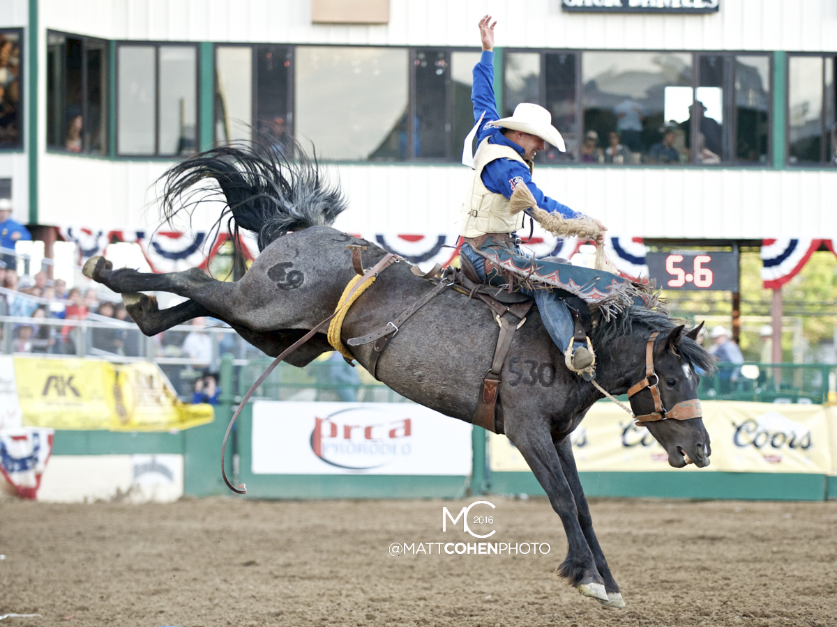 2016 WNFR: Wrangler National Finals Rodeo Qualifiers: Saddle Bronc #6 Heith DeMoss