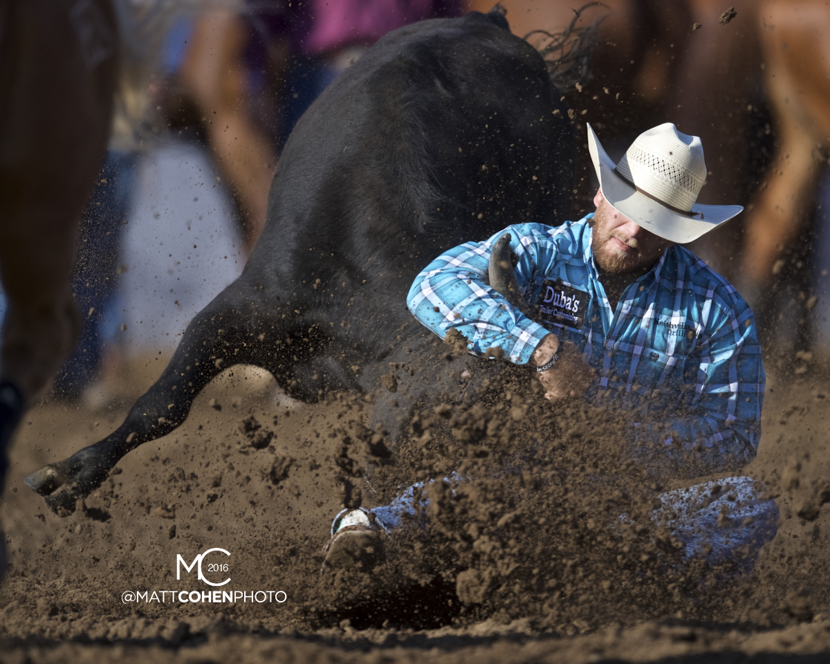 2016 WNFR: Wrangler National Finals Rodeo Qualifiers: Steer Wrestling #8 Jacob Talley